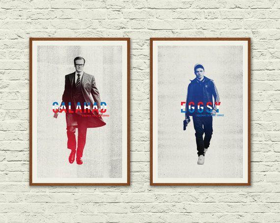 KINGSMAN: The Secret Service. 12 x 18 Poster Set. Minimalist Movie Poster. Kingsman Movie. Colin Firth. Taron Egerton. Matthew Vaughn Film.