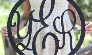 Groupon - One or Two Personalized Monogram Wall Hangings from Morgann Hill Designs (Up to 54% Off) in [missing {{location}} value]. Groupon deal price: $29