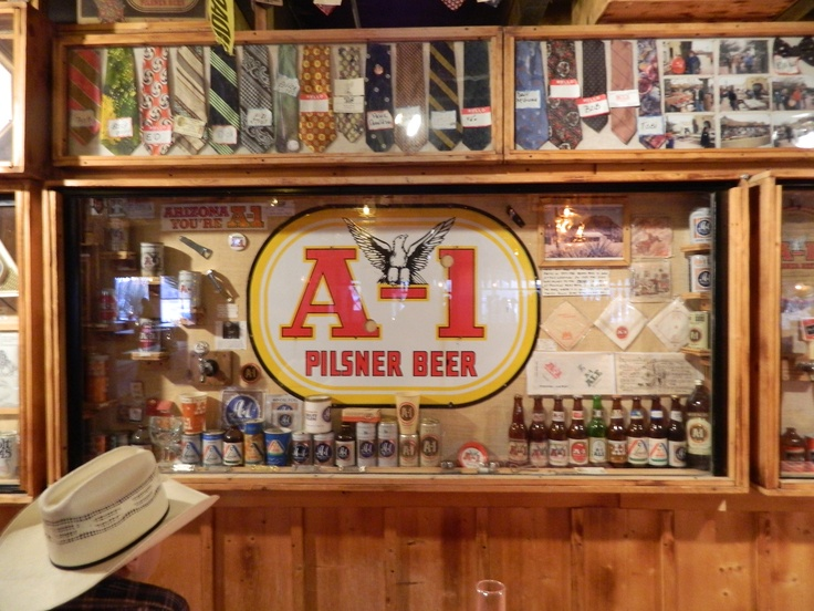 The A 1 Beer Collection At Pinnacle Peak Patio Steakhouse In Scottsdale, AZ.