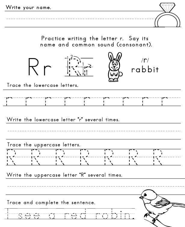 Number Names Worksheets : letter practice sheets for preschool ...