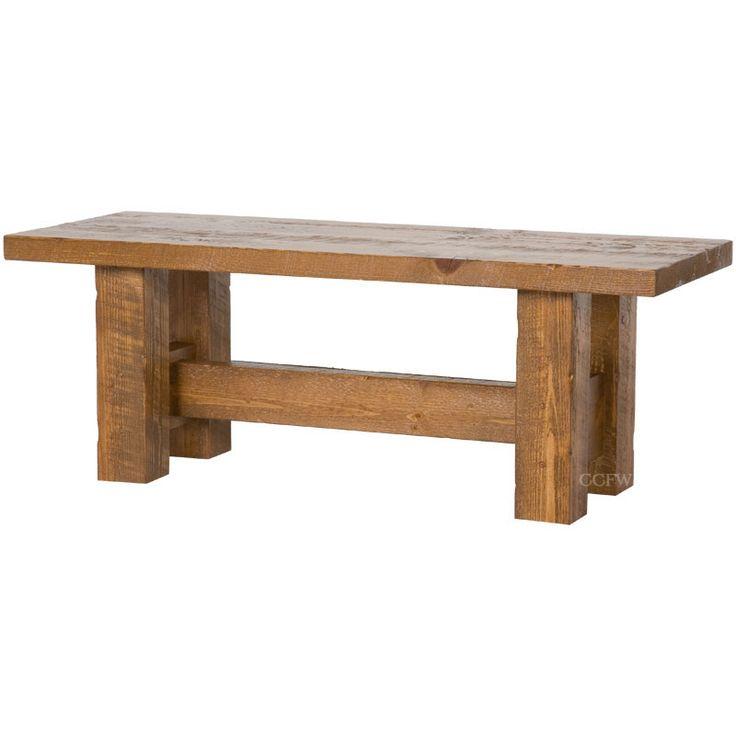 Rough Sawn Timber Bench Barnwood Furniture Pinterest