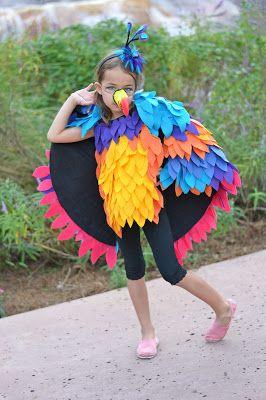 "Kevin costume.  Up Disney. ""Kevin's a girl?"" #disneyside"