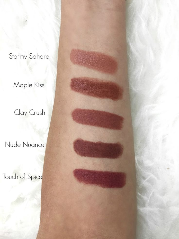 Nude lipstick swatches, Maybelline Color Sensationals