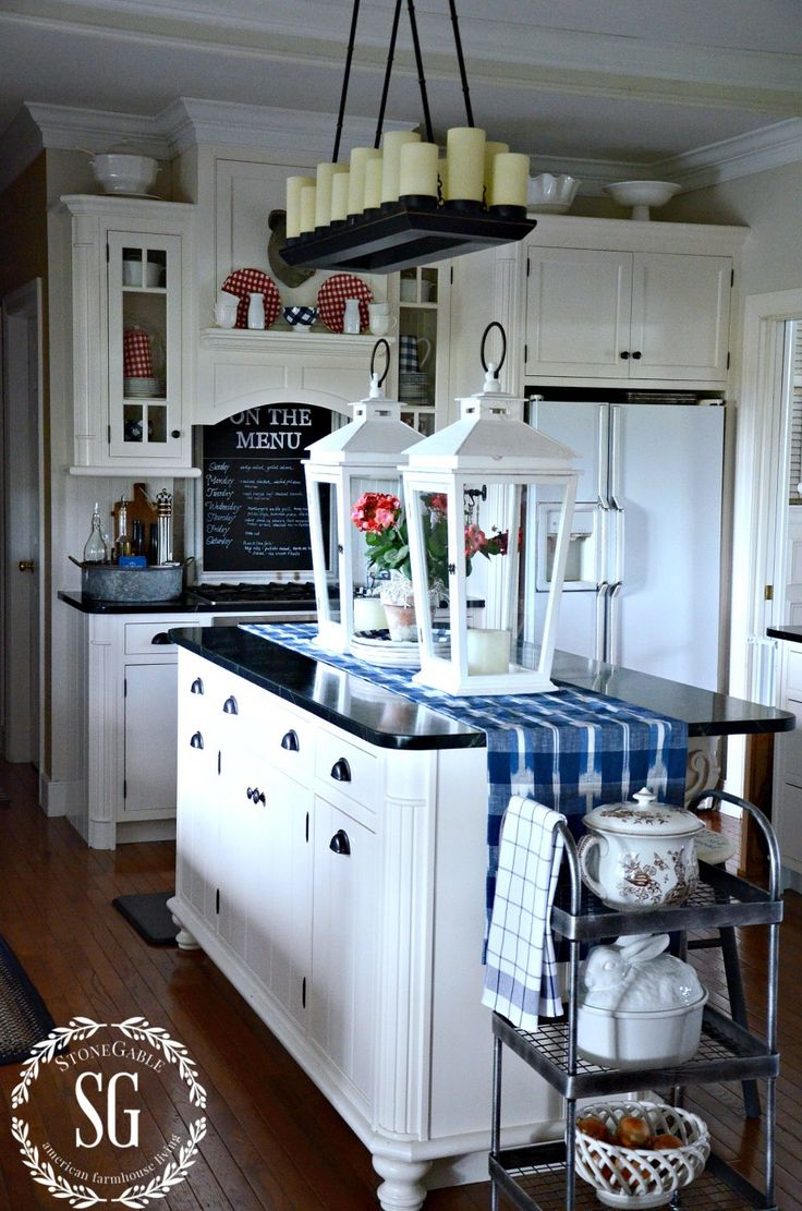 Bhome Summer Open House Tour Kitchen Island Decor Country