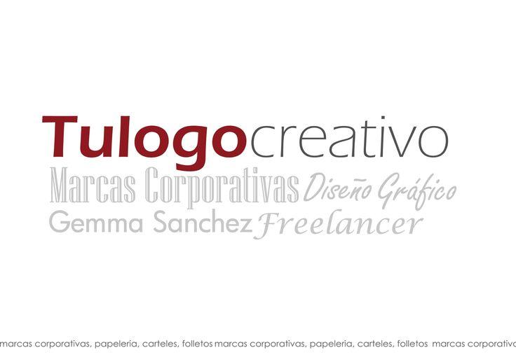 tarjeta creativo, varias tipografías