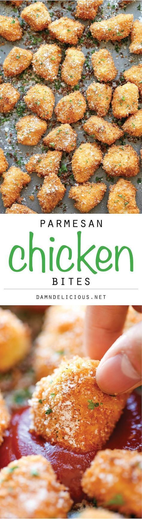 These Parmesan Chicken Bites are the perfect after school snack, game day bite or potluck addition. Simple and delicious your guests will love them.