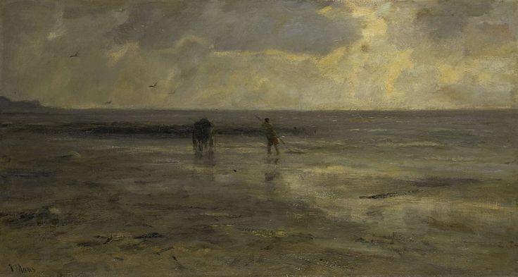 Strand bij avond, Jacob Maris, 1890