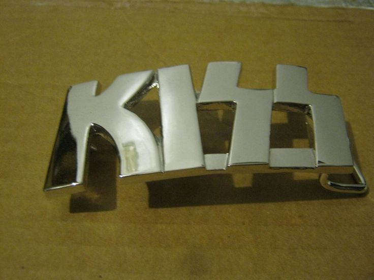 Kiss Double Platinum Belt Buckle Fully Mint Condition Band