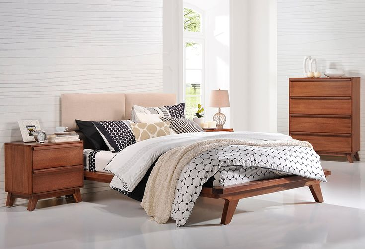 Our Retro Scandinavian masterpiece will have your bedroom looking oh so on trend. The Retro features an upholstered bedhead and timber finish in walnut. Choice of timber stains also available.