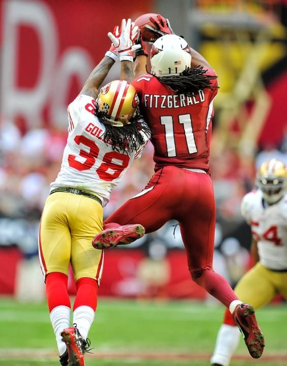 Larry Fitzgerald Arizona Cardinals WR with the grab. Way to go Larry!!!