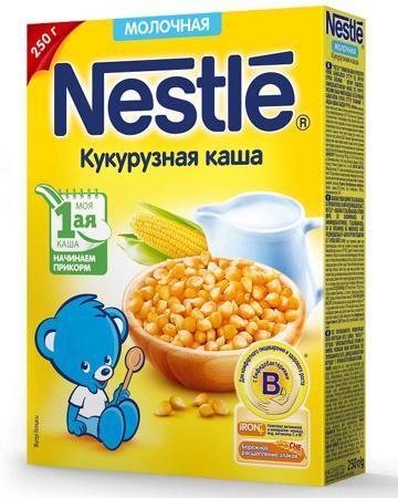 Nestle молочная Кукурузная с бифидобактериями  — 139р. --------- Каша молочная Кукурузная с бифидобактериями Нестле поможет разнообразить первый прикорм крохи и наполнить растущий организм витаминами и бифидобактериями!