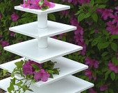 Cupcake Display Stand 5 Tier Square Style. $95.00, via Etsy.