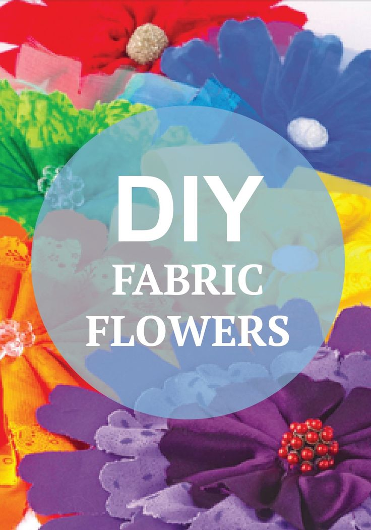 """Fun to hang on the wall or pin to a shirt, these fabric florals shout """"summer!"""" Learn how to make your own fun fabric flowers with Jo-Ann's tutorial."""