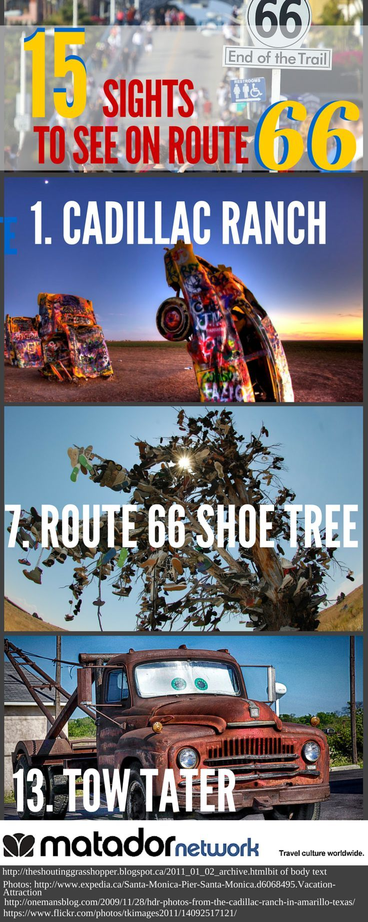 15 Only in America Sights You'll See On Route 66 Road Trip. Add some of these to your bucket list if you're looking for some true adventure. And yes you will need a special map for Route 66 since some of the roads are no longer there. Enjoy your travel destinations in the U.S.!
