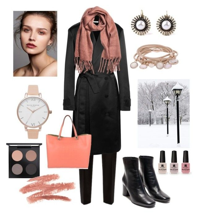 Just finished work Valentine's Day outfit by ioana-constantin-1 on Polyvore featuring Protagonist, Jaeger, Roberto Cavalli, Marjana von Berlepsch, Olivia Burton, MAC Cosmetics and Victoria's Secret