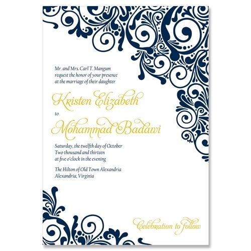 Henna Wedding Invite - Unique Wedding Invitation by The Green Kangaroo | wedding ideas ...