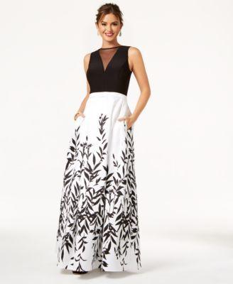 f8f4fa23ecd2 Morgan & Company Juniors' Illusion Printed & Solid Gown | macys.com ...
