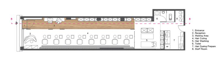 Image 19 of 23 from gallery of How Fun Hair Salon / JC Architecture. Floor Plan