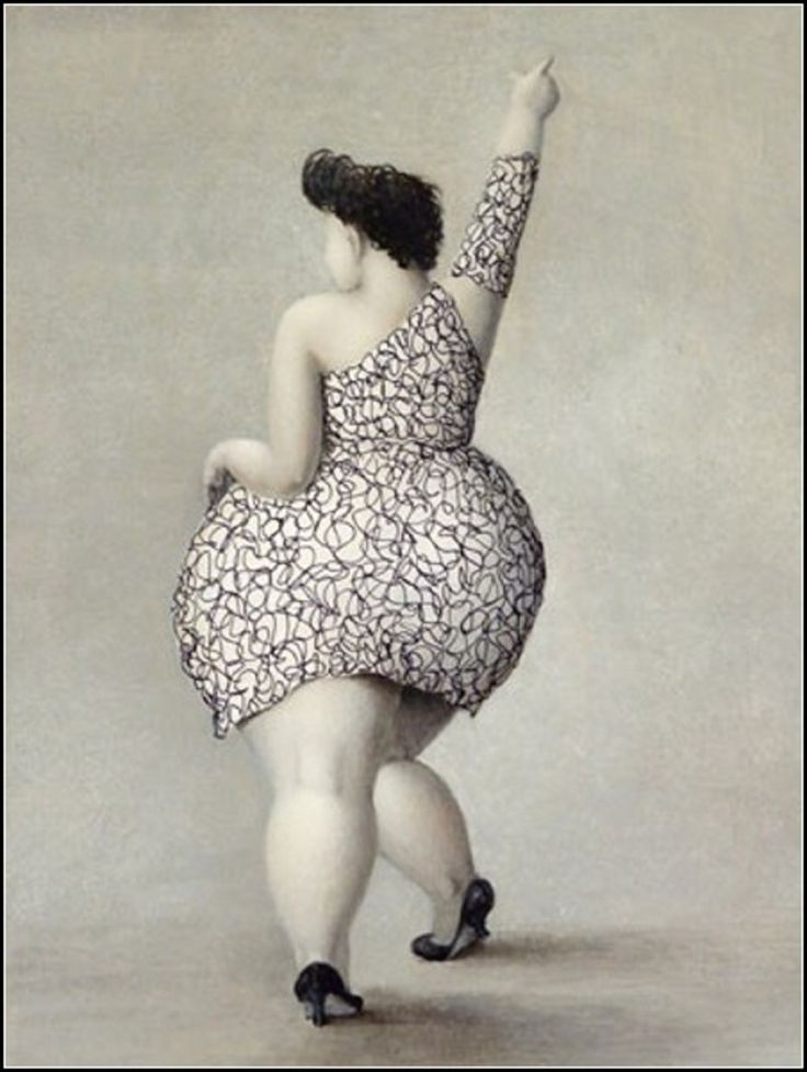 Plus Size Art by Jeanne Lorioz featured on The Curvy Fashionista