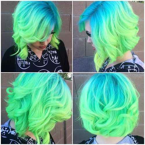 blue hair styles 25 best ideas about curly wavy hair on 1525