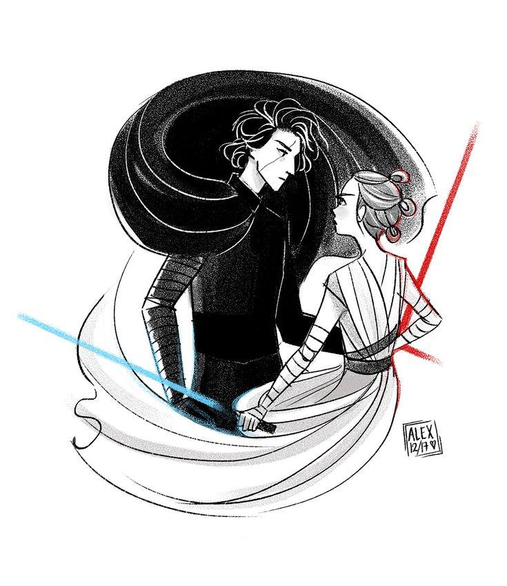 Star Wars The Last Jedi - Kylo Ren and Rey
