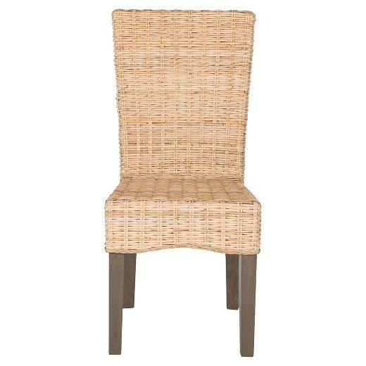 Ozias Wicker Dining Chair (Set of 2) - Safavieh : Target