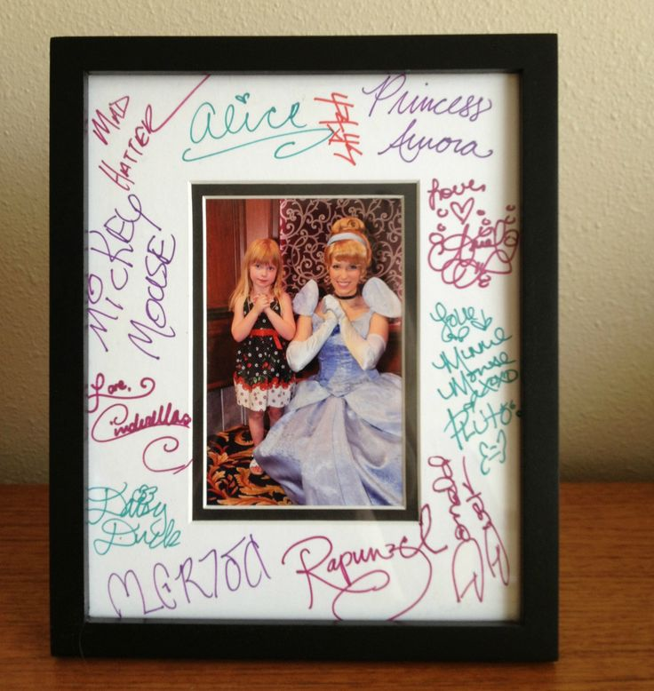 Disney character autograph ideas - Photo Frame - The Enchanted Traveler