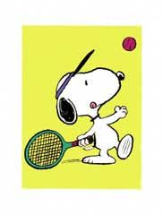 Happiness is playing tennis