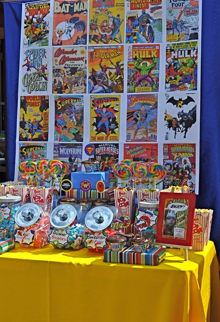 Great idea if I decide to do a superhero party for birthdays next year...and I already have a zillion comics.