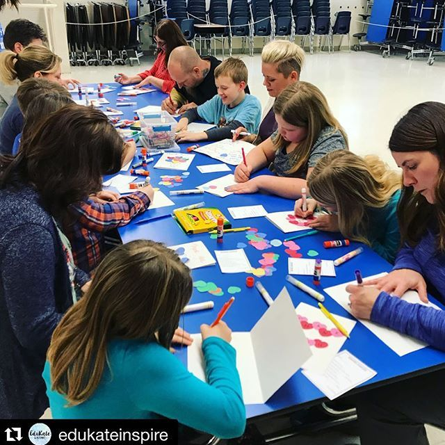 Excellent idea from @edukateinspire with @repostapp ・・・ My heart is full! 💕 I hosted an after school event called Stress Busters for kids and parents today. We made gratitude cards, did mindfulness activities, made clay worry stones, and played a crazy game in the gym! Everything ran so smoothly and it was great to see kids and their parents trying out new activities together. More info on the blog coming soon!