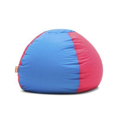 Big Joe Kushi Bean Bag Chair Upholstery Carmine Rose Alaskan Blue