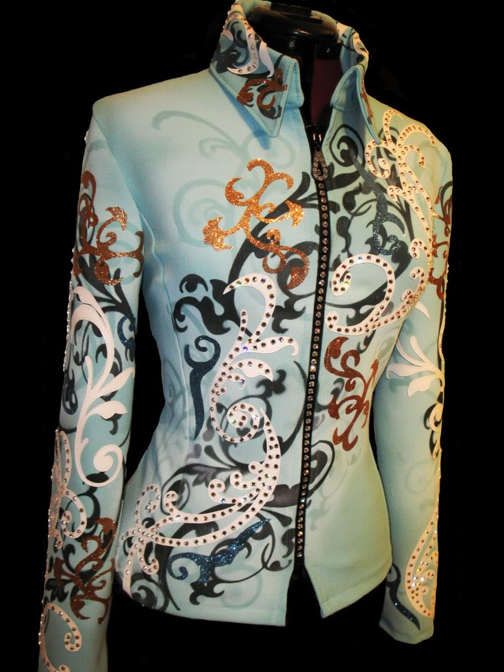 If I was still showing western pleasure (and had unlimited money) I would so get this. Gorgeous! - Airbrush Horsemanship