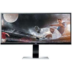 "Ecran PC AOC 34"" LED - u3477Pqu 3440 x 1440 pixels - 5 ms (gris à gris) - Format large 21/9 - Dalle IPS - Pivot - DisplayPort - HDMI - Hub USB - Noir"