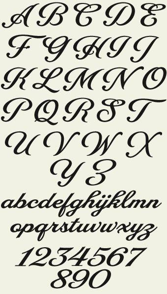 1000 Ideas About Fancy Fonts Alphabet On Pinterest