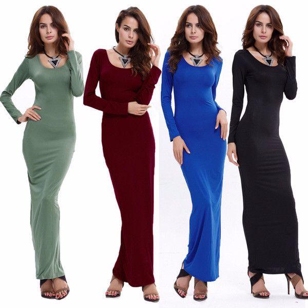 Cool Casual Slim Hip Long Maxi Dress