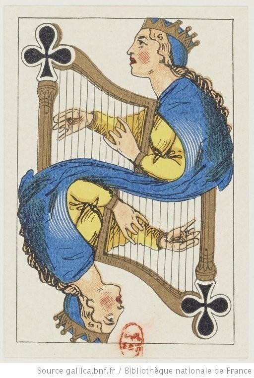 [Jeu de patience russe au portrait de fantaisie à deux têtes] : [jeu de cartes, estampe] - 21 http://catalogue.bnf.fr/ark:/12148/cb409179519