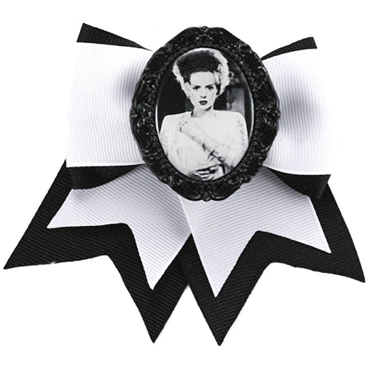 Project Pinup Bride of Frankenstein Hair Bow Clip Monster Horror Psychobilly | eBay