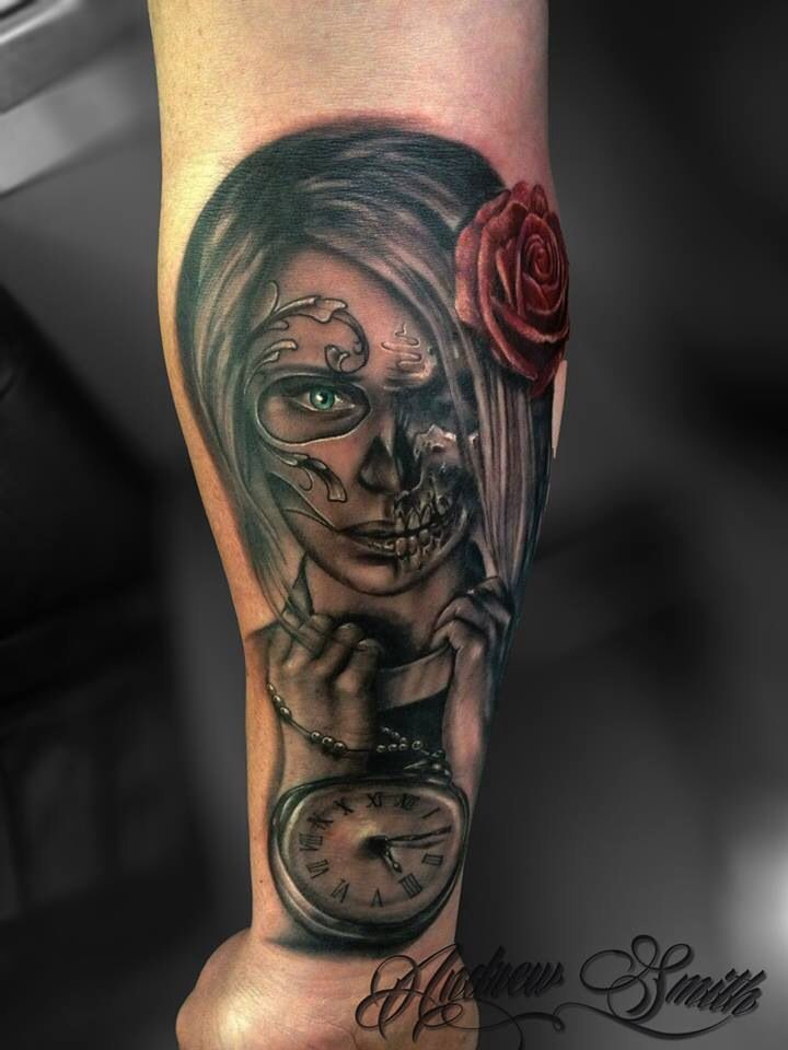 day of the dead skull zombie tattoo more tattoo ideas dead tattoos ...