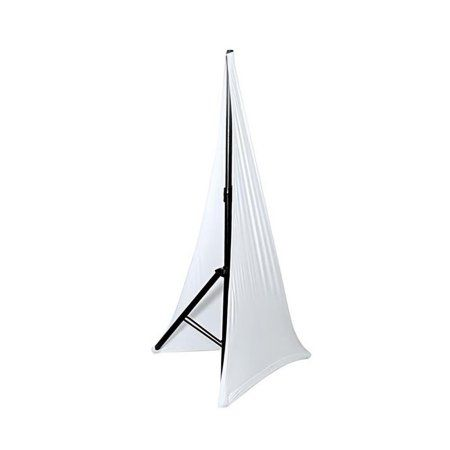 DJ Speaker / Light Stand Scrim, Universal Compatibility and Mountable, for Tripod Stands, 2 Sided (White)