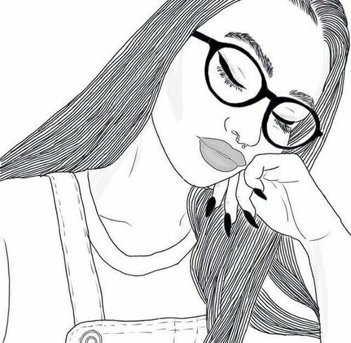 23 best drawing of girls images on Pinterest Drawings Outlines