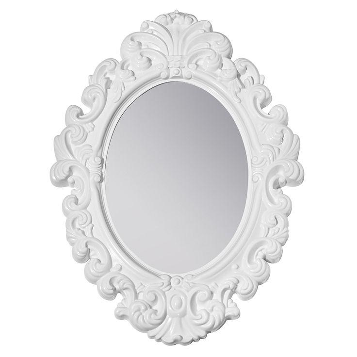 White Baroque Locker Mirror