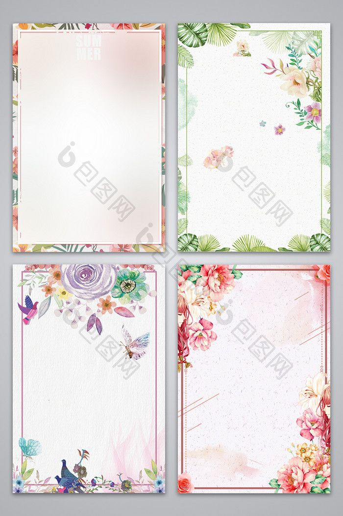 Floral floral small fresh background image Free download at pikbest