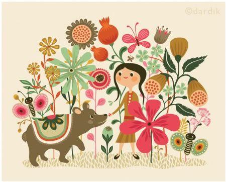 LOVE Helen Dardik's fun, happy design.  Print would be good for childrens furniture.