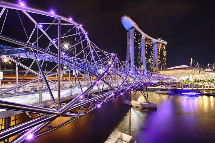 10Best: Beautiful Bridges: Slideshows Photo Gallery by 10Best.com - Helix Bridge, Singapore
