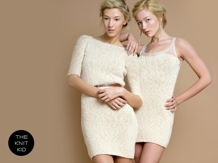 knit dress cream off white transparent cotton theknitkid. €199,90, via Etsy.
