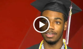 Proud graduate discusses the benefits of earning his diploma with James Madison High School online.