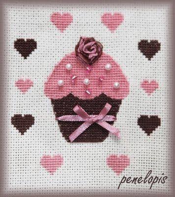 Penelopis cross stitch freebies: Cos slodkiego.../Something sweet...