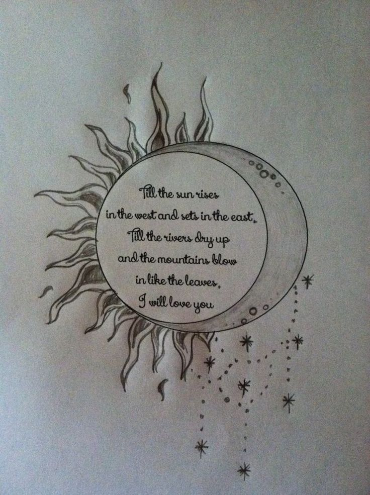 23 best images about sun and the moon quotes for Goodnight moon tattoos
