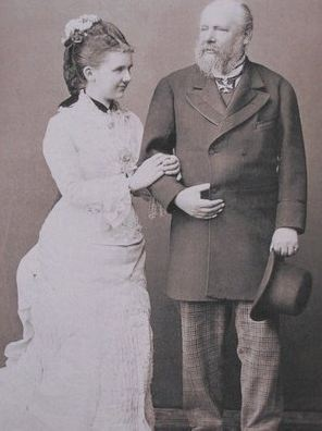 Their Majesties King William III and Queen Emma of the Netherlands. Married:  January 7, 1879. Emma was 41 years younger than her husband.
