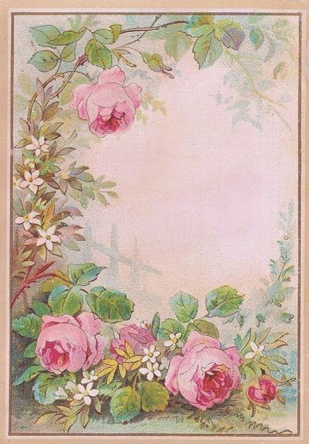 Tea Cottage Pretties: Printable Vintage Roses Graphic.